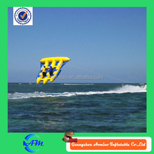 0.9mmPVC inflatable flying fish toy/ inflatable flying fish banana boat for yacht games