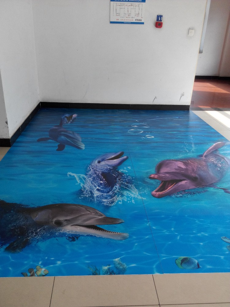 Bathroom used 3d floor murals flooring buy 3d floor for Bathroom floor mural sky