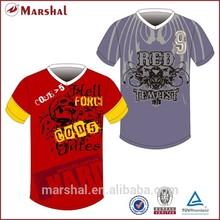 nuevo diseño de ropa de deporte de los hombres camisetas de fútbol