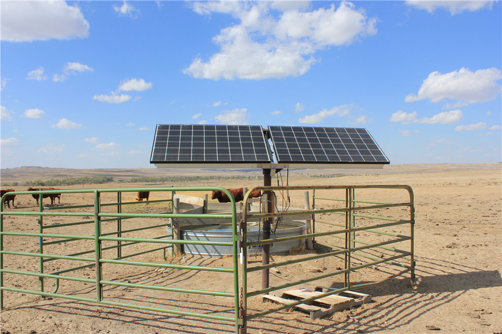 1-60 tons/h flow solar water pump for irrigation with IP68 rating