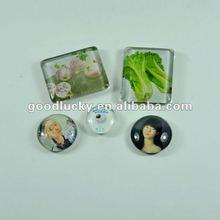 [2012 China factory make] cute/lifelike modelling crystal glass fridge magnet