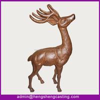 antique garden decorative cast iron deer
