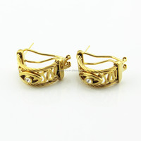 SOQ 2015 New Design Gold Plated Stud Evil Eye Earings for Women Unique Jewelry