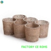 Burlap Wrapped Glass Votive Candle Holder