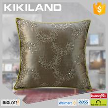 2015 fashionable design handmade embroidery cushion cover decorative satin cushion cover