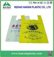 HDPE t-shirt plastic bag