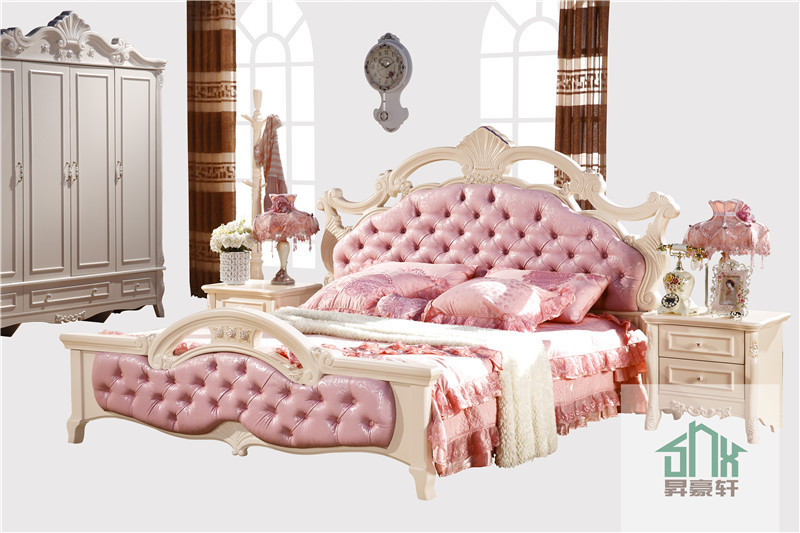 Bedroom Furniture Ha 906 French Wood Antique Bed Chiniot