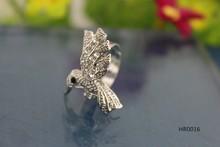 Crystal small bird animal jewelry pretty Hummingbird rings