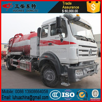 10CBM 10000L Beiben 4x4 off road vacuum sewage suction tanker truck