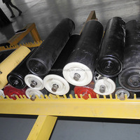 belt conveyor rollers components steel roller / plastic conveyor roller / rubber roller