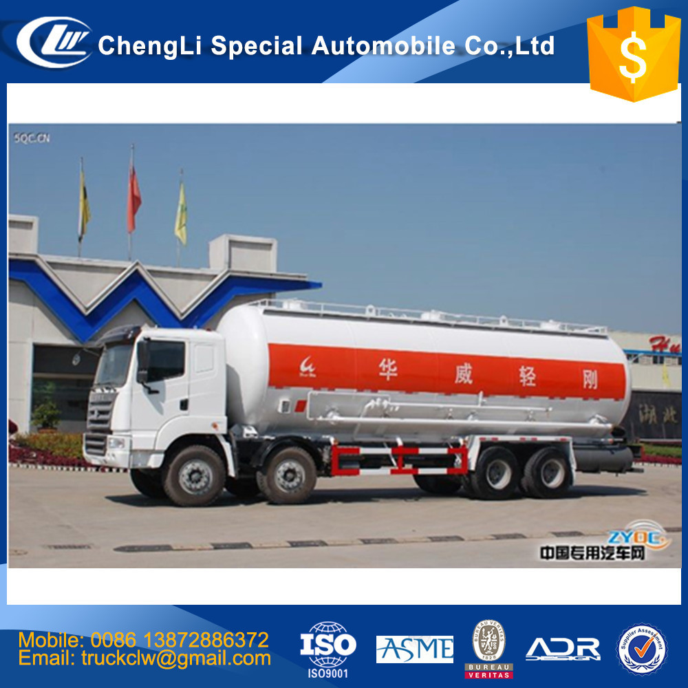 40 TONS bulk cement transport truck 8x4 bulk powder tank truck for sale