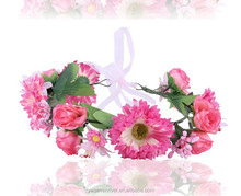 Sweet, Japan and South Korea color simulation Daisy wreath of cloth art tire headdress flower wholesale wedding photo festival o
