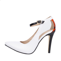 Jushee 2016 Comfortable Womens Dress Shoes High Heeled Shoes for Girls White Pump Heels