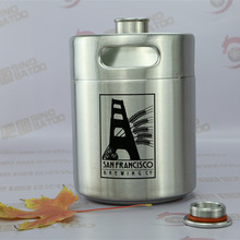 2L Mini barrel for chrome plated brass 5 tap tower with taper caps