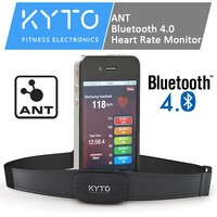 KYTO adjustable chest strap heart rate monitor with Dual Technology
