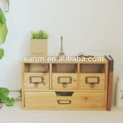 Home furniture small locking wood storage cabinet
