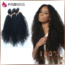 Fabwigs 6A Grade Fast Delivery Natural Color Malaysian Kinky Curly Human Hair Weft