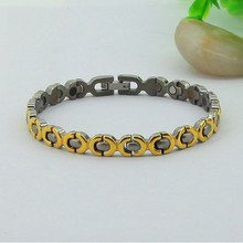 Woman Health Stainless Steel Magnetic Negative Ion Power Bracelet