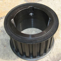 Taper bore with bead flange timing belt pulley