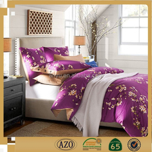 Romantic purple floral pattern famous brand wedding bedding set