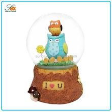 Modern Latest Blue Bird for Kids Decoration Snow Globes