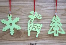 "4"" felt hanging decoration for christmas ,custom order welcome felt ornament"