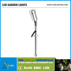 YJC-0005C IP54 PF0.9 RGB high power 3W RGB LED garden lights