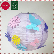 Colorful Wedding Paper Lantern with Butterfly