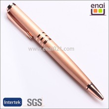 upscale promotion full rose gold colored plating metal ball pens for business man and woman