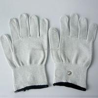 EMS tens conductive body facial massger gloves , tens muscle stimulator