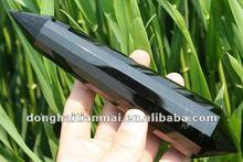 16 cara Natural obsidiana cristal decorativo talla Point / mexicanos obsidiana precio