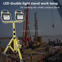 LED outdoor Double Tripod LED Site Work Light 2 x 20w