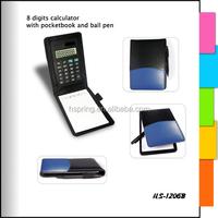Promotion rubber mini notepad calculator