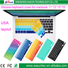 """High qualityJapanese Layout Rainbow Silicone Keyboard Cover for MacBook Air Pro 13"""" 15"""" 17"""" (Retina)2015 wholesale in stock"""