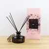 Air Freshener Black Reed Diffuser Glass Diffuser Bottle with Black Rattan Sticks Aroma Gift Sets