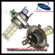 Car auto led lights h4, 18 smd 5050 h4 automotive led for fog lights