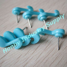 Cute gifts 18mm solid blue decorative push pin