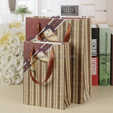 New style recycled paper bags striped paper shopping bag wholesale in YiWu China