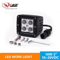 Mini 3inch16W LED Working Lights SQURE 4W Each Led Fog light for Off Road Ship Boat