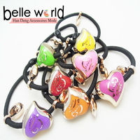 Heart Beads Detailing Stretchy Hair Band Ponytail Holder