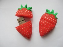 mini light , delicious and cute strawberry style usb flash drive