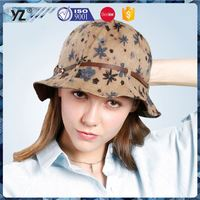 Hot selling custom design various color lady bucket hat for promotion