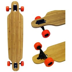 BAMBOO DROP THROUGH THRU LONGBOARD SKATEBOARD COMPLETE