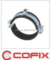 two screw pipe clamps with EPDM rubber