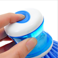 Popular Japan Style Operated Plastic Kitchen and Bathroom Soap Dispense Cleaning Brush