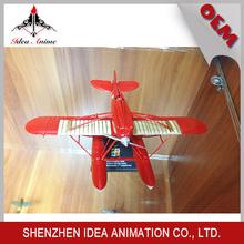 Motores del modelo de rojo aeroplano de II Guerra Mundial de aleación