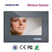7inch Free Post LCD AD, Supermarket plastic shelf edge Motion Activated Advertising Display with 12V rechargeable battery