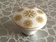 white gold ceramic knobs CHC010