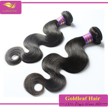 wholesale body wave eurasian hair natural black remy virgin hair extension