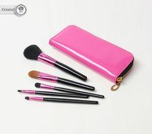 hot sale 5 pcs make up brushes sets with PVC bag